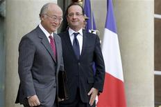 """<p>Le directeur de l'Agence internationale de l'énergie atomique (AIEA), Yukiya Amano, a jugé lundi """"préoccupante"""" la situation du nucléaire iranien, dont il s'est entretenu à Paris avec François Hollande. /Photo prise le 19 novembre 2012/REUTERS/Philippe Wojazer</p>"""