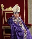 <p>El Papa Benedicto XVI durante una misa en la basílica de San Pedro en El Vaticano, dic 1 2012. Es oficial: la cuenta en Twitter del Papa Benedicto XVI será @pontifex. REUTERS/Max Rossi</p>