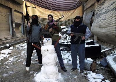 Snowfall in the Mideast