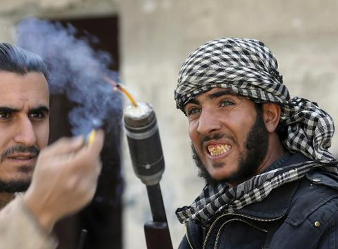 Syrian rebels in Damascus