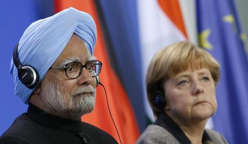 Manmohan Singh in Germany