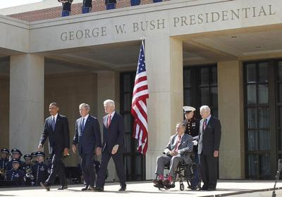 Bush library dedication