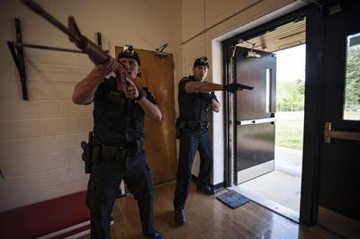 School shooting response drill