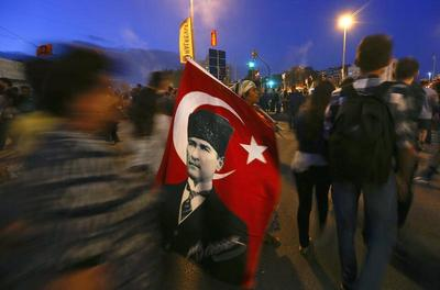 Downtime between Turkish protests