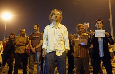 Standing in Taksim Square