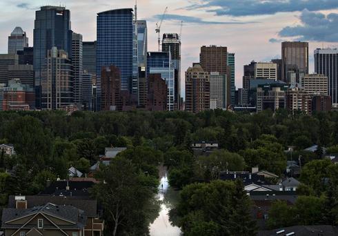 Calgary under water