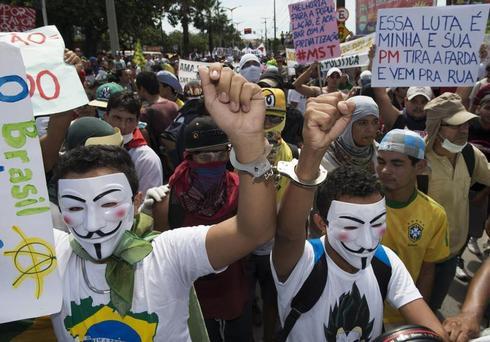 Protests flare in Brazil