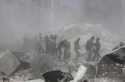 Building collapse in Syria