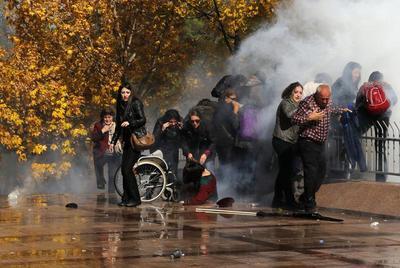 Tear gas in Turkey