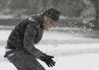 Snow across mid-America