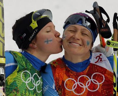 Smooching in Sochi