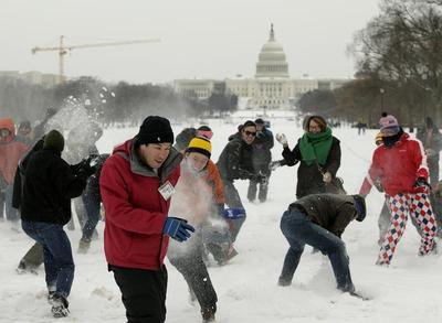 Snowstorms strike again