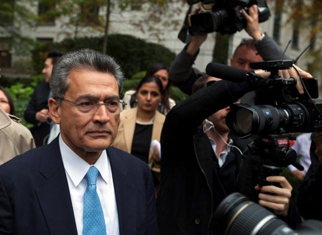 Former Goldman Sachs Group Inc board member Rajat Gupta departs Manhattan Federal Court after being sentenced in New York in this October 24, 2012 file photo. REUTERS/Lucas Jackson/Files