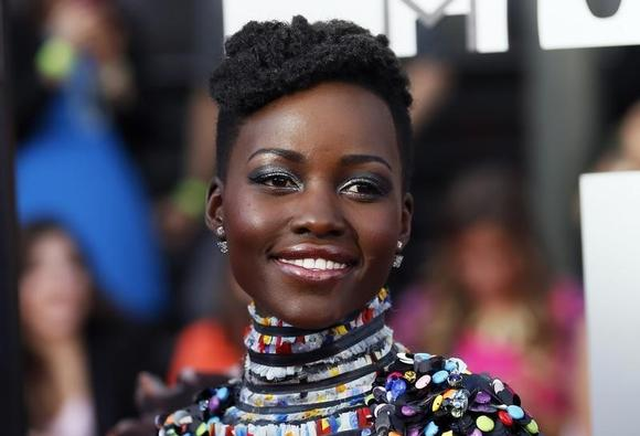 Actress Lupita Nyong'o arrives at the 2014 MTV Movie Awards in Los Angeles, California  April 13, 2014.  REUTERS/Danny Moloshok