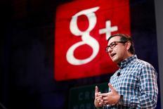 Le patron des activités réseaux sociaux de Google, Vic Gundotra, a annoncé jeudi son départ du géant américain, trois ans après le lancement de Google+. /Photo d'archives/REUTERS/Beck Diefenbach