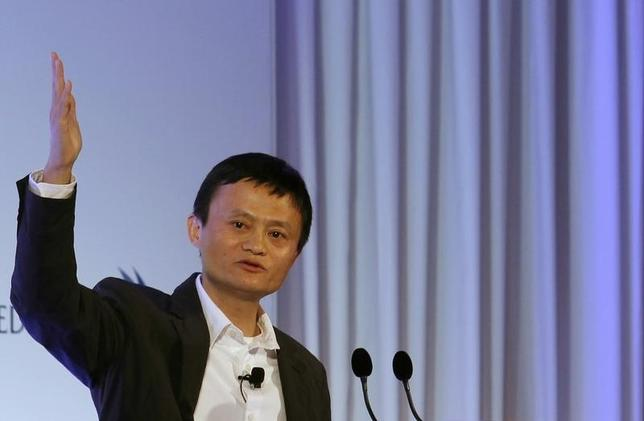 Jack Ma, the chairman of China's largest e-commerce firm Alibaba Group, speaks during a conference in Hong Kong March 20, 2013. REUTERS/Bobby Yip/Files