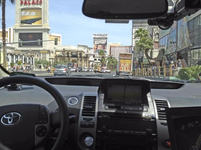 Handout photo courtesy of the Nevada Department of Motor Vehicles shows a Google self-driven car in Las Vegas, Nevada, May 1, 2012. REUTERS/Nevada Department of Motor Vehicles/Handout/Files