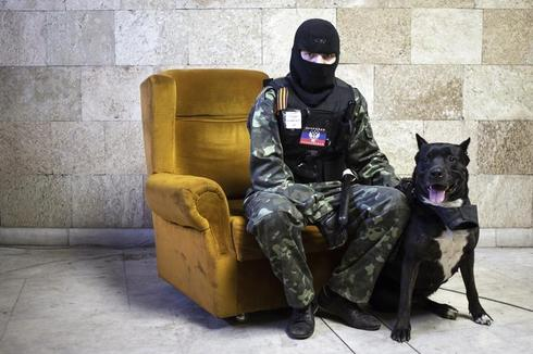 Portraits of pro-Russian separatists