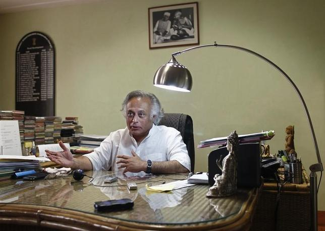 Jairam Ramesh speaks during an interview with Reuters at his office in New Delhi November 5, 2013. REUTERS/Anindito Mukherjee/Files