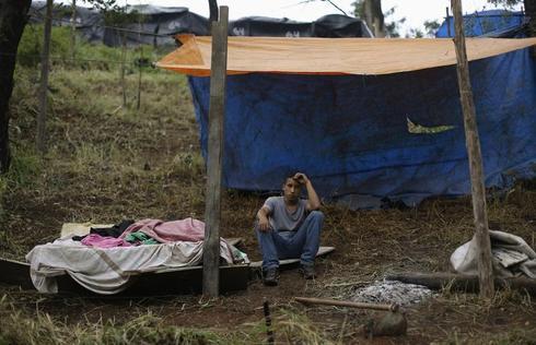 Homeless camp in Brazil