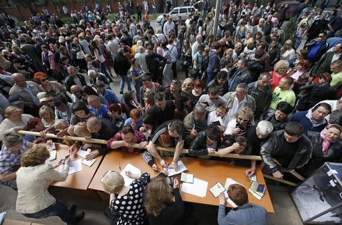 Disputed vote in east Ukraine