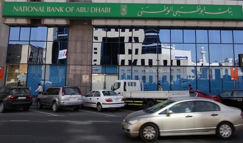 A view of a branch of National Bank of Abu Dhabi along Khalid Bin Al-Waleed Road in Dubai February 3, 2010.REUTERS/Mosab Omar/Files