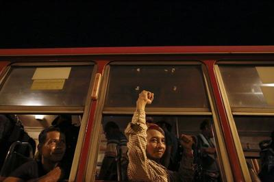 Thai protesters head home
