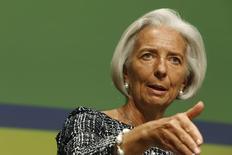 La directrice générale du Fonds monétaire international (FMI) Christine Lagarde juge que la réforme du secteur bancaire, nécessaire après la crise financière de 2007-2009, est à la fois trop lente et entravée par les groupes de pressions. /Photo prise le 21 mai 2014/REUTERS/Jonathan Ernst