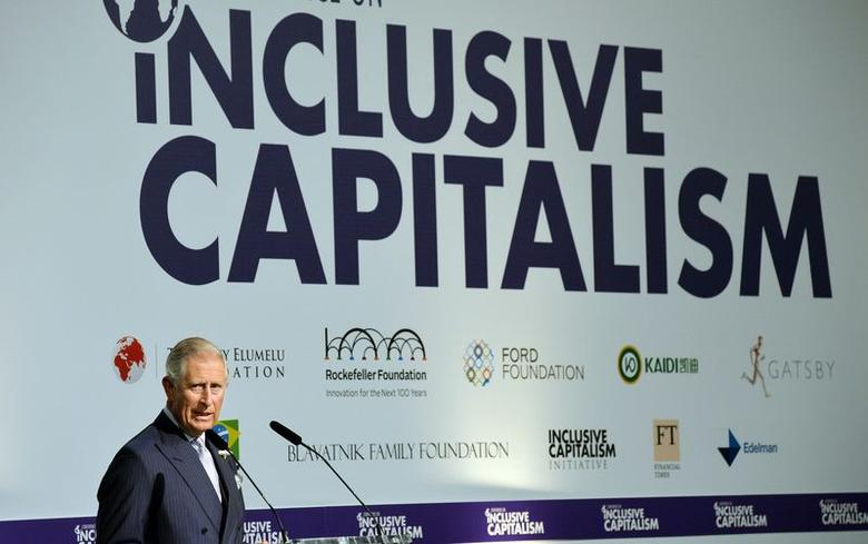 Britain's Prince Charles addresses the Inclusive Capitalism Conference, at the Mansion House in the City of London May 27, 2014.   REUTERS/John Stillwell/Pool
