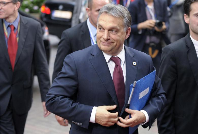 Hungary's Prime Minister Viktor Orban arrives at an informal summit of European Union leaders in Brussels May 27, 2014.     REUTERS/Laurent Dubrule