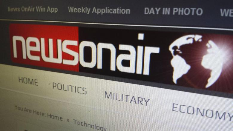 A portion of the homepage of Newsonair.com is shown on a computer screen in Toronto, Ontario May 28, 2014.  REUTERS/Chris Helgren