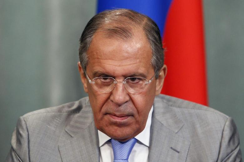 Russia's Foreign Minister Sergei Lavrov attends a news conference after a meeting with his Mauritanian counterpart Ahmed Teguedi in Moscow, June 2, 2014. REUTERS/Sergei Karpukhin