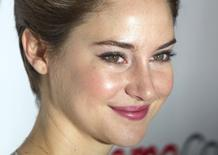 "Actress Shailene Woodley arrives for a 20th Century Fox presentation of ""The Fault in Our Stars"" in Las Vegas, Nevada in this March 27, 2014 file photo.  REUTERS/Steve Marcus/Files"