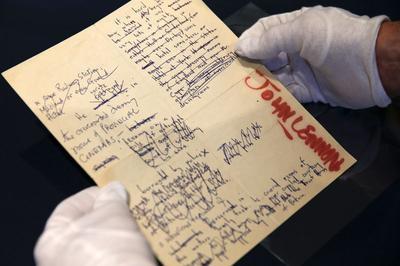 John Lennon manuscripts, drawings sell for $2.9...