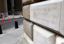 """El Banco de la Reserva Federal en Nueva York, responsable del reporte del Libro Beige. 27 sep, 2003.  La expansión económica se fortaleció a lo largo de Estados Unidos con un repunte generalizado en las manufacturas, un """"vigoroso crecimiento"""" en algunos puertos y un constante gasto del consumidor, dijo el miércoles la Reserva Federal. Chip East / Reuters"""