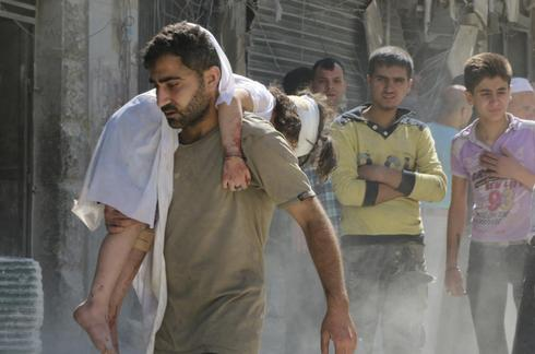 Barrel bombs in Aleppo