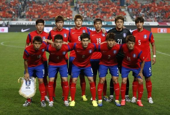 South Korea's national football squad in 2014