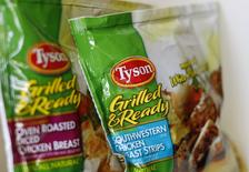 A Tyson Foods venceu a disputa contra o grupo brasileiro JBS pelo controle da norte-americana Hillshire Brands. 29/05/2014 REUTERS/Mike Blake