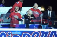 May 3, 2014; Los Angeles, CA, USA; Shelly Sterling (Rochelle Sterling) attends game seven of the first round of the 2014 NBA Playoffs between the Golden State Warriors and the Los Angeles CLippers at Staples Center. Sterling is the wife of Los Angeles Clippers owner Donald Sterling (not in attendance). Mandatory Credit: Kirby Lee-USA TODAY Sports