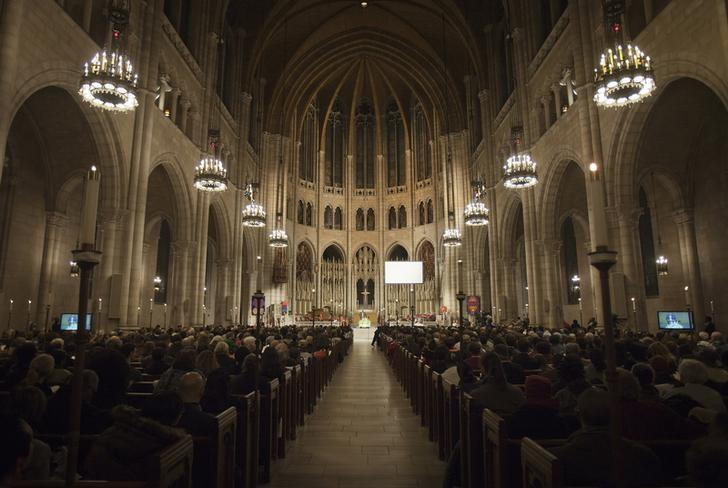 The nave of the Riverside Church is seen during a memorial service for the late Nelson Mandela in New York December 11, 2013. REUTERS/Carlo Allegri
