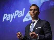 David Marcus, qui dirigeait jusqu'à présent PayPal, la filiale de paiement en ligne d'eBay, quittera le groupe de commerce électronique le 27 juin pour prendre la tête des activités de messagerie de Facebook. /Photo d'archives/REUTERS/Yuriko Nakao