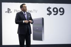 A Sony anunciou que lançará um microconsole chamado PlayStation TV por 99 dólares na América do Norte, através do qual usuários poderão acessar filmes e programas de televisão pela PlayStation Store. 09/06/2014 REUTERS/Mario Anzuoni