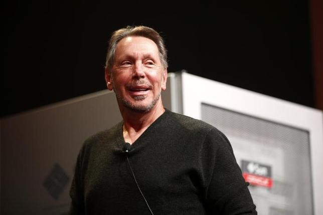 Co-founder and Chief Executive of Oracle Corporation, Larry Ellison introduces the company's latest SPARC servers at Oracle Conference Center in Redwood Shores, California March 26, 2013 file photo. REUTERS/Stephen Lam