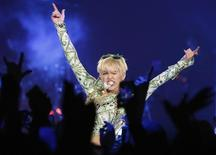U.S. singer Miley Cyrus performs at the O2 Arena in central London May 6, 2014 file photo. REUTERS/Olivia Harris