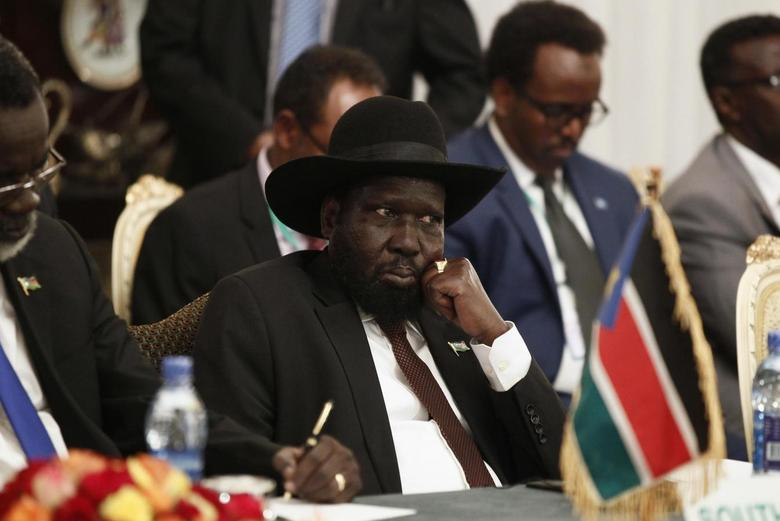 South Sudan's President Salva Kiir attends an urgent session for the Summit of the Inter-Governmental Authority on Development (IGAD) on South Sudan in Ethiopia's capital Addis Ababa June 10, 2014. REUTERS/Tiksa Negeri