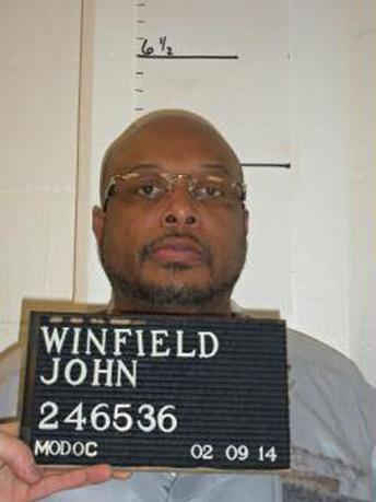 Death row inmate John Winfield is seen in this picture taken on February 9, 2014 and provided by the Missouri Department of Corrections. REUTERS/Missouri Department of Corrections/Handout via Reuters