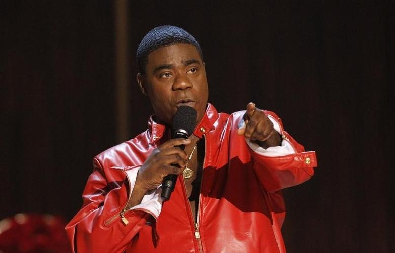 Actor Tracy Morgan speaks during the taping of the Spike TV special tribute ''Eddie Murphy: One Night Only'' at the Saban theatre in Beverly Hills, California November 3, 2012 file photo.  REUTERS/Mario Anzuoni