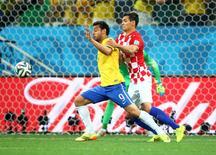 Copa Mundial, Brasil vs Croacia, 13 de junio de 2014. La victoria de Brasil por 3-1 sobre Croacia en la apertura del Mundial de fútbol generó 58 millones de publicaciones en Facebook, casi cinco veces más que la ceremonia de entrega de los premios Oscar de este año, dijo el viernes la red social. Rebilas-USA TODAY Sports