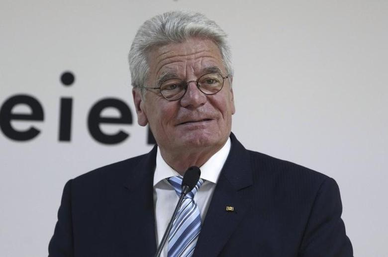 Germany's President Joachim Gauck speaks during the opening ceremony of German-Turkish university in Istanbul April  29, 2014.  REUTERS/Osman Orsal