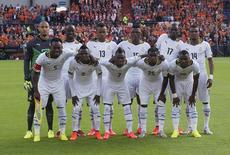 Ghana's national soccer team poses for a photo before a friendly soccer match against Netherlands in Rotterdam in this May 31, 2014 file photo. REUTERS/Toussaint Kluiters/United Photos/Files